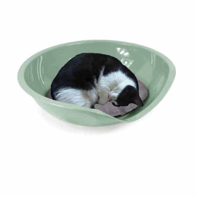 유선형 베디 필로우 고양이 베드 방석세트(그린)