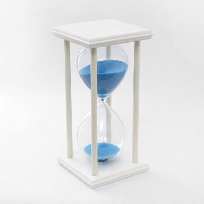 화이트원목 인테리어 모래시계(30분) (블루)