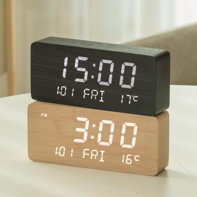 플라이토 우드 LED 데이트 탁상시계+USB아답터