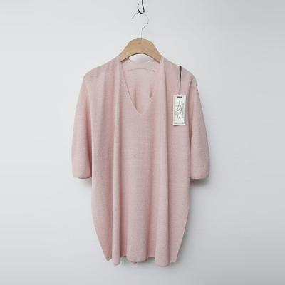 Maille Cotton V-Neck Sweater - 반팔