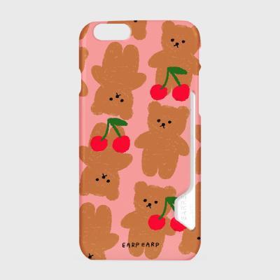 Dot cherry big bear-pink(카드수납케이스)