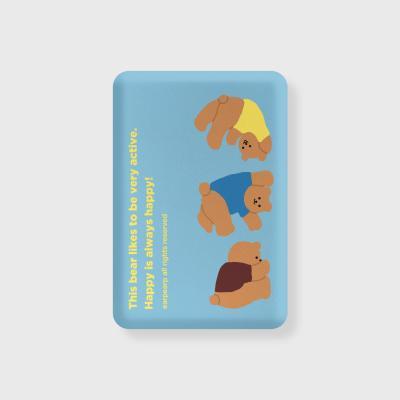 Rolling bear-baby blue(무선충전보조배터리)