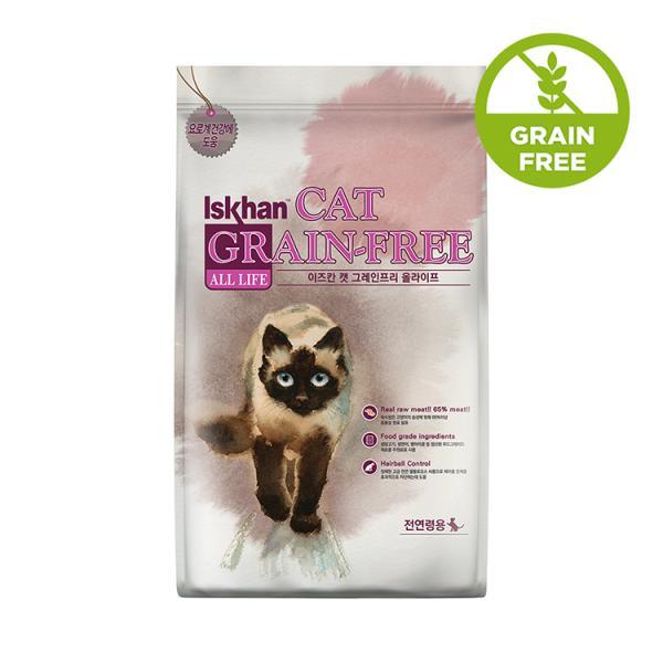 이즈칸 캣 그레인프리 올라이프 2.5kg 고양이 사료