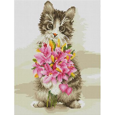 고양이의 프러포즈 (캔버스형) 보석십자수 30x40