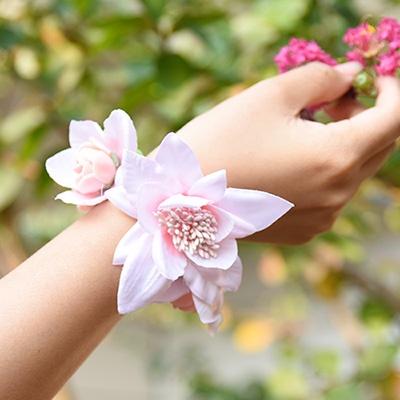 웨딩 꽃팔찌[스위트핑크]