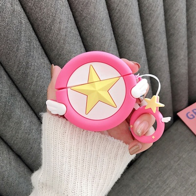 에어팟 3세대 천사별 젤리케이스 키링 152핫핑크_프로