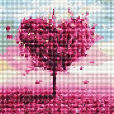 사랑나무 3 (캔버스형) 보석십자수 25x25