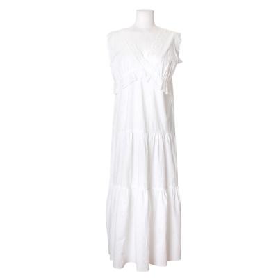 [쿠비카]러블리 레이스 민소매 롱 원피스 잠옷 W607