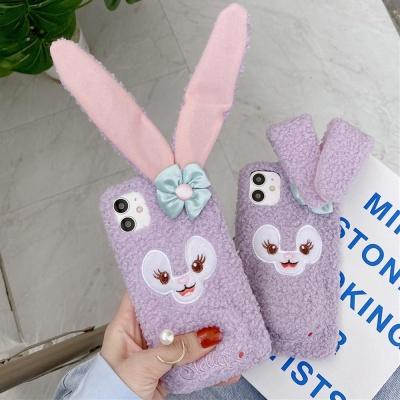 아이폰12 MINI 11 PRO MAX 움직이는 토끼귀 털 케이스