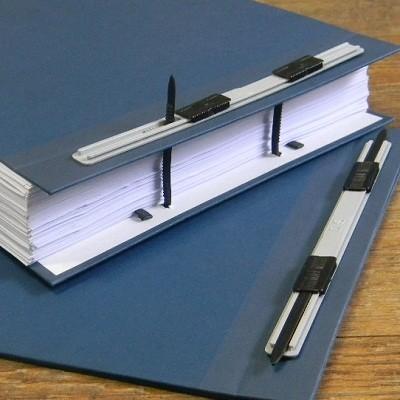 스프링 장식이 장착된-청운그린화일 화스너 책표지-A4 2매 1조 HB154
