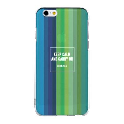 Keep Calm And Carry On 아이폰 투명 젤리 케이스