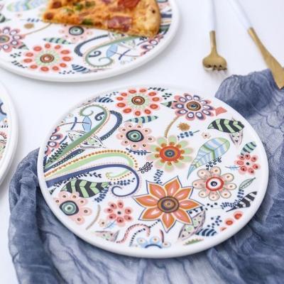 온나 세라믹 플라워 디저트 접시 그릇(소형)