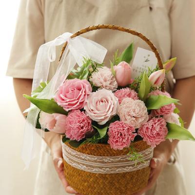 [메세지선택] 프린세스 비누카네이션꽃바구니