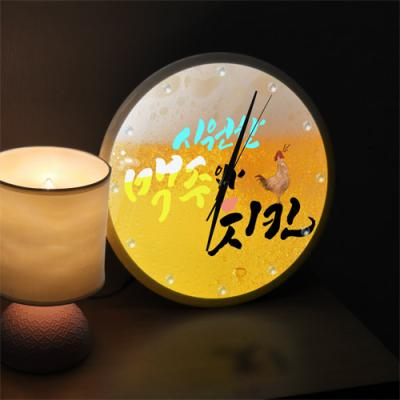 ng340-LED시계액자35R_시원한맥주와치킨