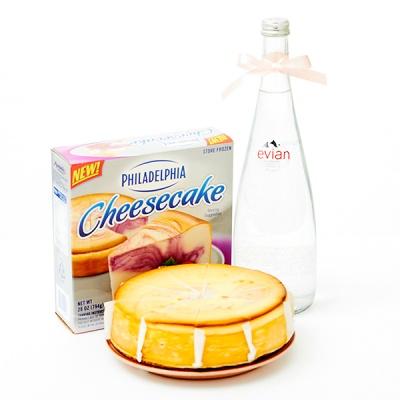 필라델피아 치즈케익 라즈베리 스월(794g)+에비앙750