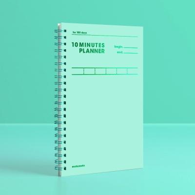 [컬러칩] 텐미닛 플래너 100DAYS - 그리너리 모트모트