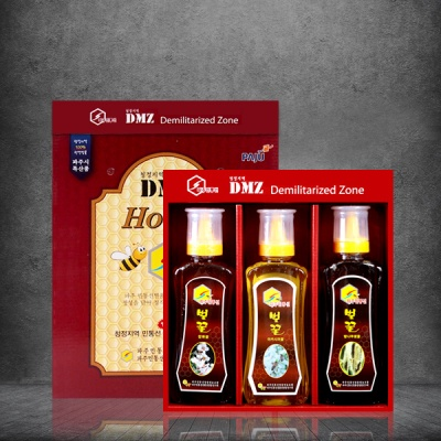 파주 DMZ지역 자연산 100% 꿀 선물세트 500g X 3개