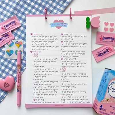 베이비 핑크 샤베트 노트패드