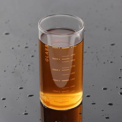 [로하티]눈금패턴 내열 유리컵(350ml) (오렌지)/ 물잔