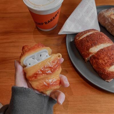 에어팟 1/2/3/프로 크로와상 빵 입체 실리콘 케이스