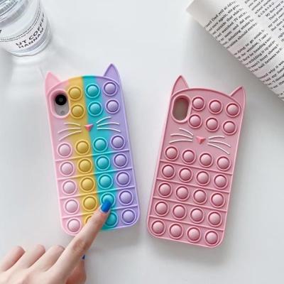 아이폰 xr xs max se2 8 7 고양이 푸쉬팝 팝잇 케이스