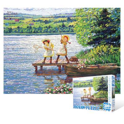 200피스 직소퍼즐 - 빨강머리 앤 낚시 여행 (큰조각)