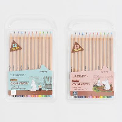 무민 12색 나무 색연필