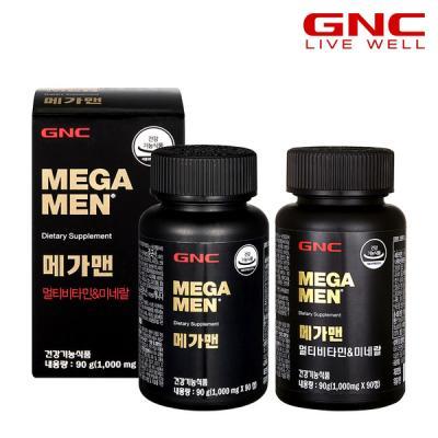 [GNC]메가맨 멀티비타민 앤 미네랄 (90정) 45일분x2병
