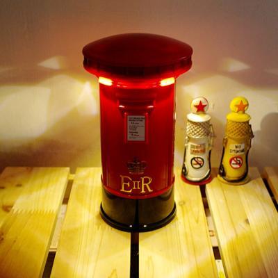 영국 우체통 밝기조절 터치무드등 램프 조명 저금통