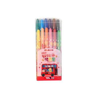 3500 미니빙글빙글색연필(12색/핑크)