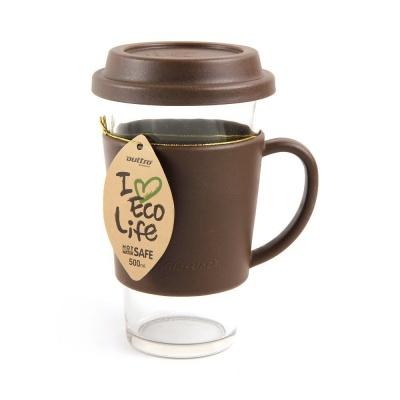 글라스락 유리 텀블러 500ml 브라운 유리컵 이유식컵