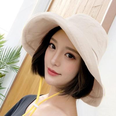 버킷햇 베이지 햇빛가리개 오버햇 린넨모자 모자 썬