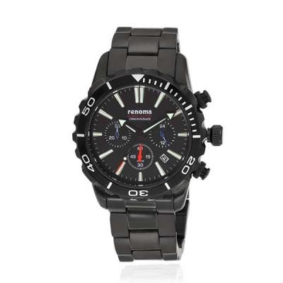 [레노마] 다이버 손목시계(200M방수) 올블랙 RE-555BB