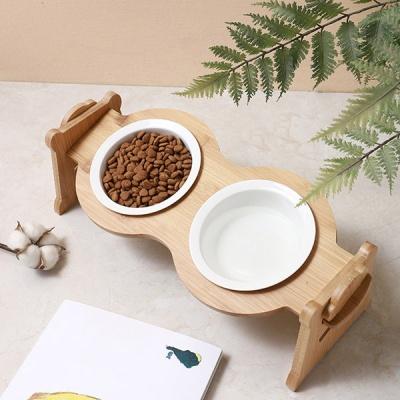 2단 높이조절 반려동물 밥그릇 물그릇 2구