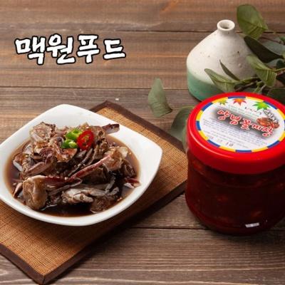 맥원푸드 간장꽃게장 양념꽃게장 1kg