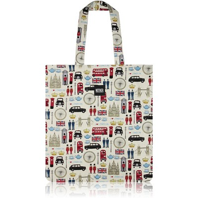 nother London Collection Flat Tote Bag (Icons) / 나더 런던 컬렉션 플랫 토트백