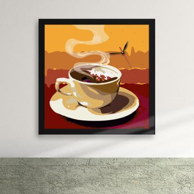 cy558-커피아트액자벽시계_디자인액자시계