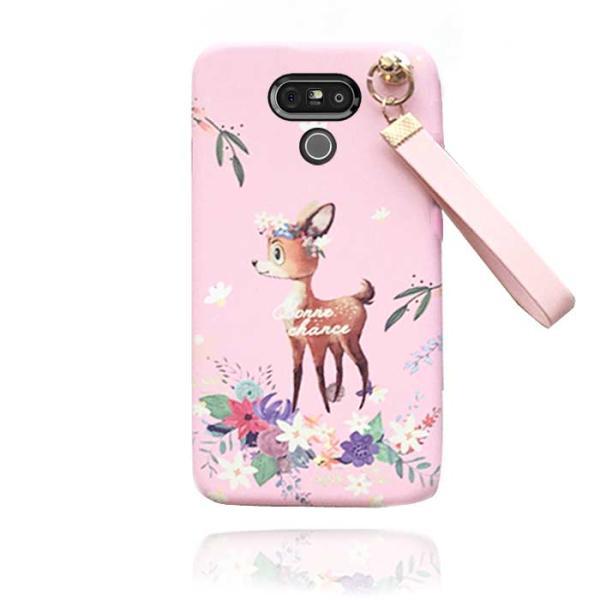 프리미엄  아기사슴의 여행 키링케이스(LG폰 시리즈)