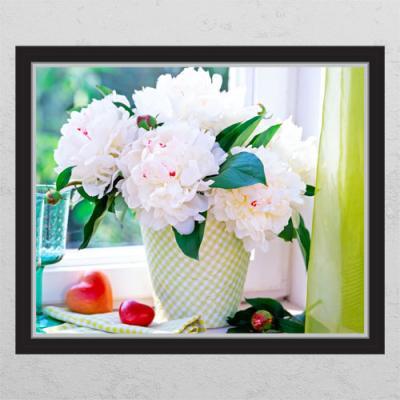 ta636-금전운의모란꽃화분03_창문그림액자