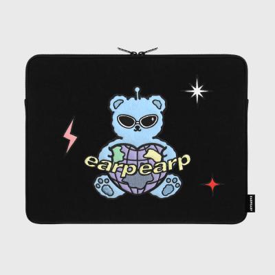 Space night bear-black(15인치 노트북파우치)