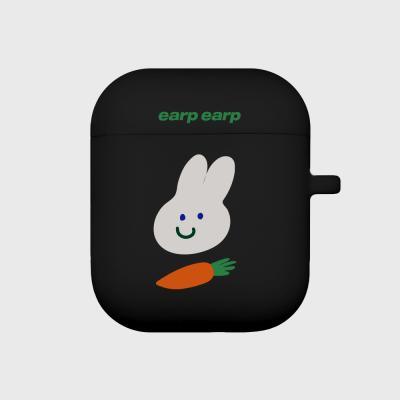 Rabbit carrot-black(Air Pods)