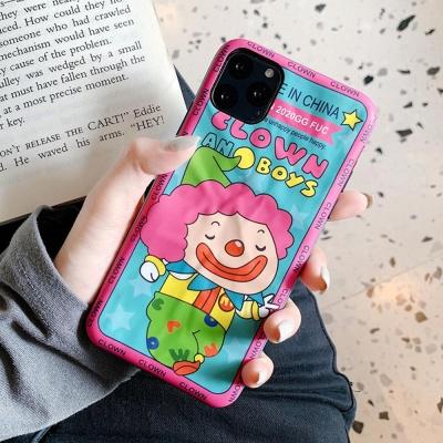 아이폰 귀여운 컬러풀 삐에로 캐릭터 실리콘 폰케이스