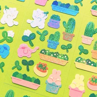 [오 젤리게임]MANTA BOX_트윙클 파릇파릇 칼선 스티커
