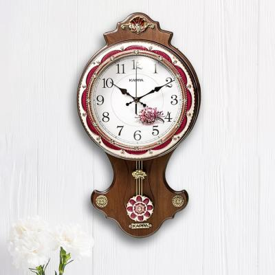 카파 무소음 P330 브라운 앤틱 인테리어추벽시계