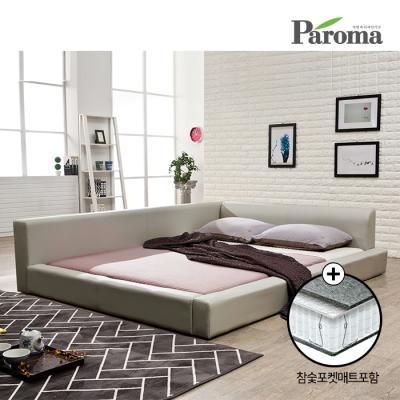파로마 플러스 저상형침대 Q+참숯 포켓메트리스