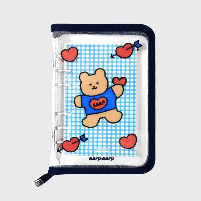 Bear heart-navy(6hole diary)