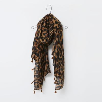 Leopard Tassel Scarf