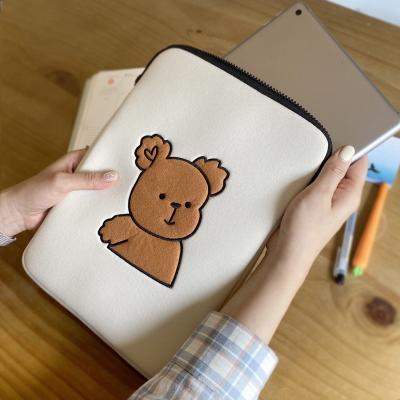 아이패드 태블릿 노트북파우치 브라운베어 11인치