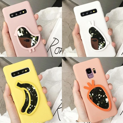 갤럭시S9/S9플러스/당근 바나나 미러 젤리 폰케이스