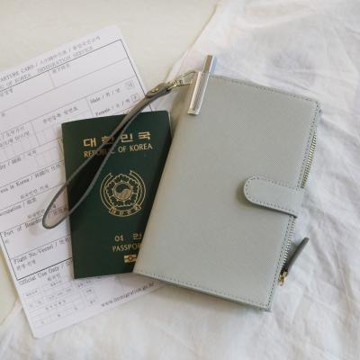 D.LAB DH88 (안티스키밍) Passport Wallet - Gray